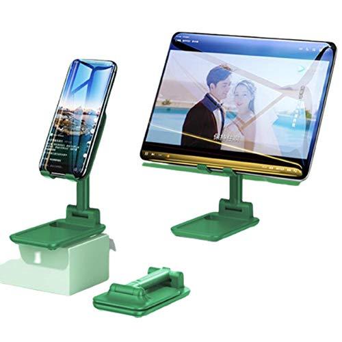 Soporte retráctil y plegable, para teléfono móvil, portátil, soporte para tableta de escritorio, apto para dispositivos de 12.9 pulgadas