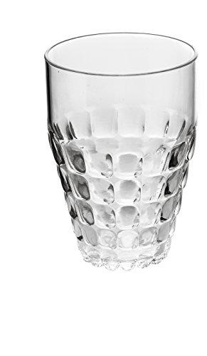 Guzzini Bicchiere Alto Tiffany, Trasparente, Ø9 x h13 cm