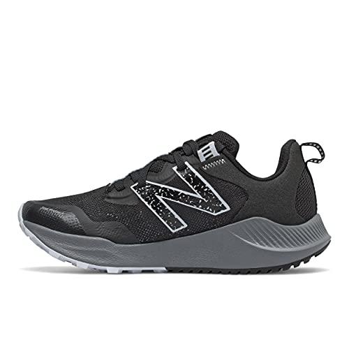 New Balance Women's DynaSoft Nitrel V4 Trail Running Shoe, Black/Moon Dust, 7.5 Wide