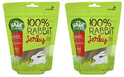 Hare of the Dog 100% Rabbit Jerky Dog Treats,