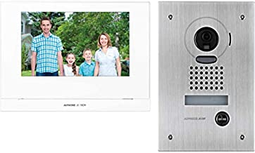 """JOS1FW AIPHONE 7"""" Wireless Video Intercom Kit with Jo1mdw, Jodvf & P/S JOS1FW Stainless Steel Flush Mount Camera, Supports..."""