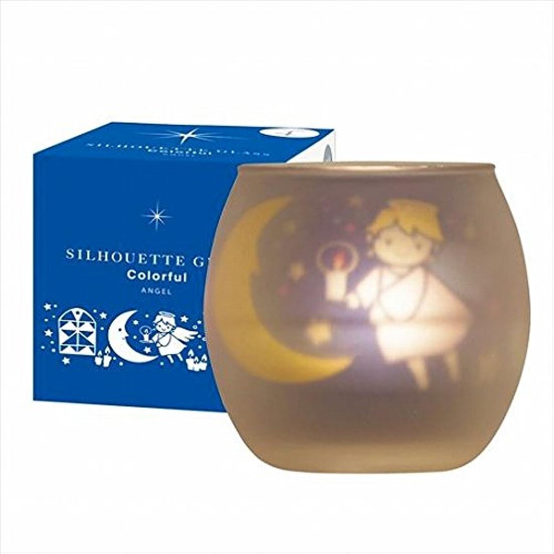 肉屋傷つける長くするカメヤマキャンドル(kameyama candle) シルエットグラスカラフルエンジェル【キャンドル4個付き】