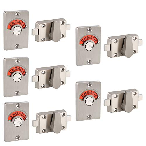 Fdit Latch Indicating Lock Stainless Steel Bolt Door Lock Indicator Bolt Vacant Engaged Bathroom Wc Public Restroom Toilet Privacy Partition Door Lock Latch 5 Pack Buy Online In Antigua And Barbuda At Antigua Desertcart Com