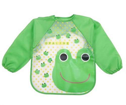RANJN slabbetje met diermotief, schattig, baby-slabbetje, lange mouwen, blouse, zacht, waterdicht, kleurrijk, kinderen