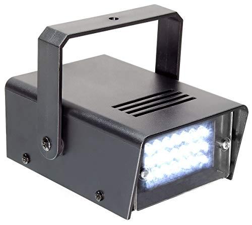 BeamZ 153.275 Schwarzes Stroboskop und Disco Licht – Disco Zubehör (Schwarz, LED, 24 Lampen, Weiß, AC, 10 W)