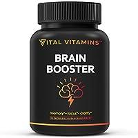 30-Count Vital Vitamins Brain Supplement Nootropics Booster Capsule