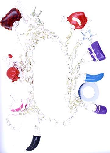 Lizzyoftheflowers - Pulsera de cadena con abalorios femeninos. Los 15 son extraíbles y muy lindos.