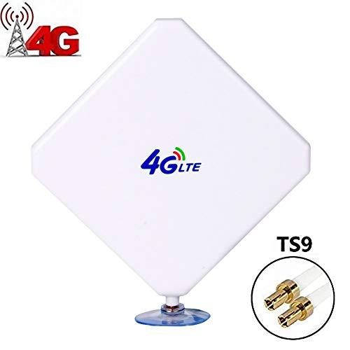 Antena 35dbi gsm De Alta Ganancia 4g LTE, Antena Ts9, Antena Amplificador De SeñAl WiFi con Cable Conector Ts9 para Punto De Acceso MóVil (Conector Ts9)
