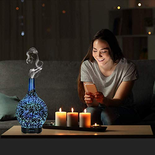 Glass-Aromatherapy-Ultrasonic-Cool-Mist-Aroma-Essential-Oil-Diffuser-Whisper-Quiet-Humidifier-Waterless-Auto-Shut-Off-and-7-Color-Changed-LED-for-Home-Office-Yoga-SPA-100ml