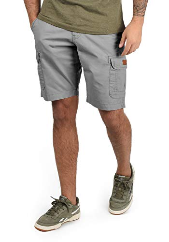 Blend Crixus Herren Cargo Shorts Bermuda Kurze Hose Aus 100{56dabf1426fd1e7ebc0371b988ba1c4d791cc748b9d438a3b68c8d1cf77d23f4} Baumwolle Regular Fit, Größe:XL, Farbe:Aluminium (70107)