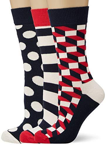 Happy Socks Damen Classic Stripe Gift Box Socken, Mehrfarbig (Multicolour 600), 4/7 (Herstellergröße: 36-40) (3er Pack)