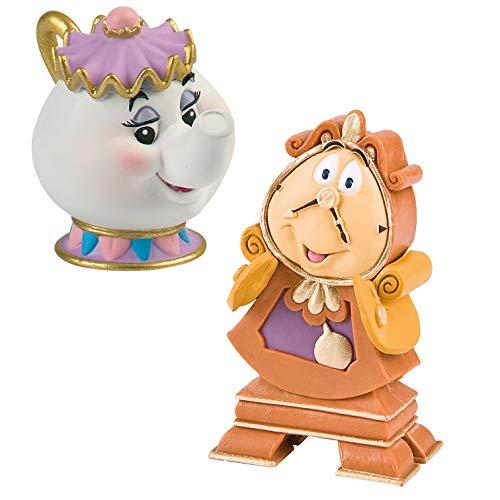 Märchenschloss Bullyland - Walt Disney - 12474 Madame Pottine + 12563 Herr von Unruh