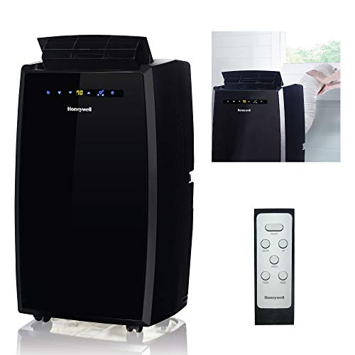 Price comparison product image Honeywell MN10CESBB 10000 BTU Portable Conditioner,  Dehumidifier & Fan for Rooms Up To 350-450 Sq. Ft. with Thermal Overload Protection,  Washable Air Filter & Remote Control,  Black