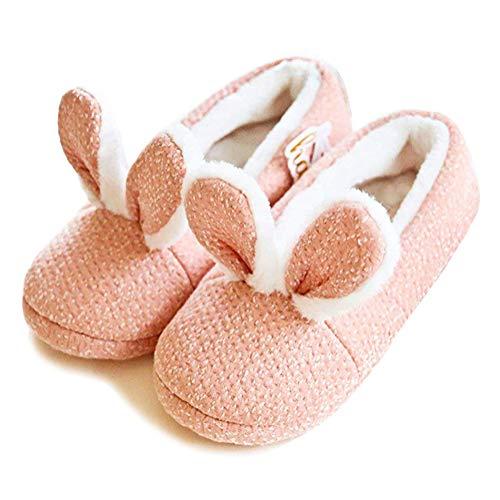 Minetom Damen Hausschuhe Winter Baumwolle Pantoffeln Plüsch Wärme Weiche Cute Tiere Hausschuhe Kuschelige Home rutschfeste Slippers 06 Häschenohr 38-39 EU