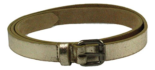 FREDsBRUDER | Small Belt | Gürtel - metallic light gold, Farbe:gold;Größe:85