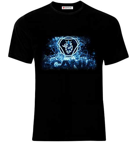 Scania Truck Drivers Logo Auto Sport Car Männer Printed T-Shirt (XL, Black)