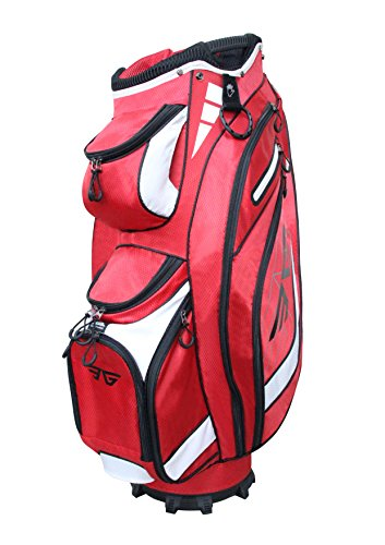 Eagole Super Light Golf Cart Bag,14 Way Full Length Divider,9 Pockets (Red)