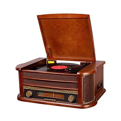 Grammofono Retro Giradischi Bluetooth Lp Giradischi in Stile Europeo Registratore per Giradischi in Vinile Vintage Entry