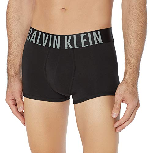 Calvin Klein Trunk - Bóxers ajustados para Hombre, Negro, Chico