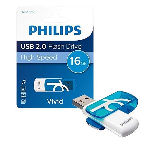 Philips USB 2.0 16GB Vivid Edition Blue