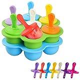 Mini Stampi per Ghiaccioli in Silicone,2PCS Stampi per Gelato Bambini, Formine Ghiaccioli Riutilizzabili,Sorbetti,Contenitore per Alimenti per Bambini