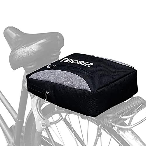 lenpestia Fahrrad Gepäckträgertasche Rücksitztasche Gepäcktaschen mit Verstellbarem Schultergurt 2 in 1 Wasserdicht Schultertasche Fahrradträger Aufbewahrungstasche für Pendler Radfahren im Freien