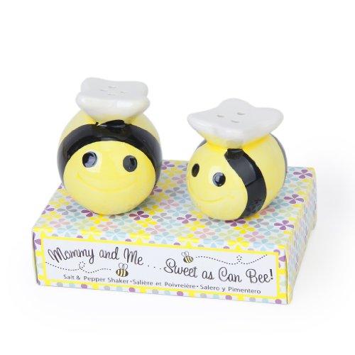 MagiDeal 2er Set Salz & Pfefferstreuer Keramik Imme Bee Muster Hochzeit Geschenkidee