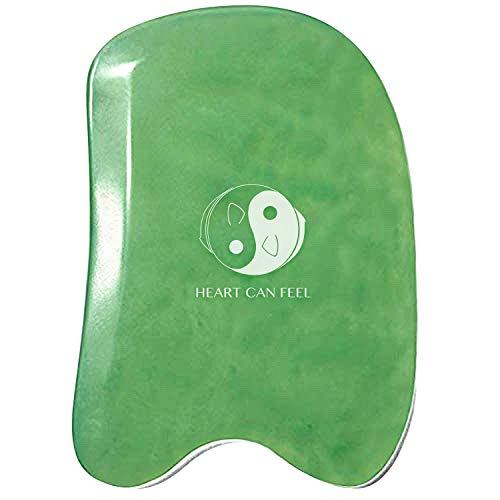 Best Jade Gua Sha Scraping Massage Tool - High Quality Hand Made Jade Guasha Board - Great...