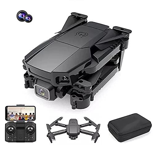 Drone 4K con doppia fotocamera, drone pieghevole, adatto per principianti adulti, modalità senza testa di mantenimento dell'altezza del quadricottero RC, una chiave fuori terra Controllo dell'app lun