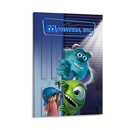 Póster de Dragon Vines Monsters, Inc. Sally Monsters Mike y Little Girl Game (60 x 90 cm)