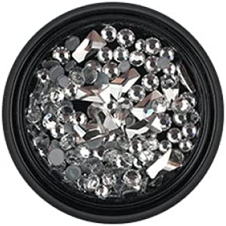 New item Mixed Size Flat-Bottomed Nail Art AB Special Shap White Diamonds Free shipping anywhere in the nation