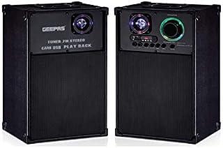 Geepas 2.0Ch Professional Speaker System Gms8538,Black