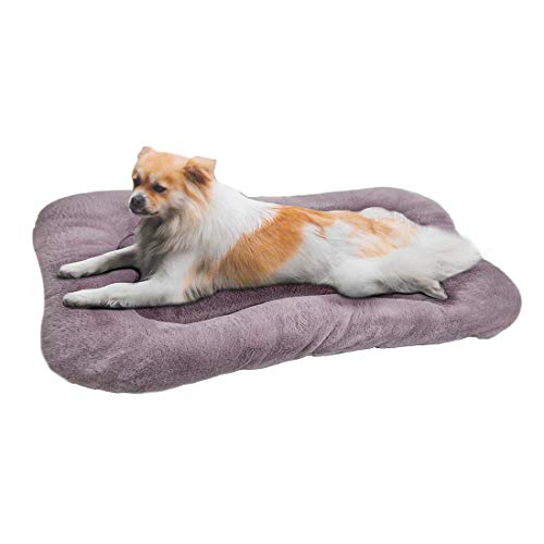 """WZ PET Dog Bed Mat Soft Crate Pad,Dog Crate Bed Cushion31""""/36""""/40"""" Washable Mattress Anti-Slip Pet Kennel Pad for Large Medium XL Dogs and Cats,Purple Blue Bed Mats"""