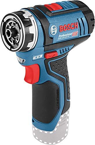 Bosch Professional 12V System Akku Bohrschrauber GSR 12V-15 FC (ohne Akkus und Ladegerät, im Karton), 12 V, Schwarz, Blau