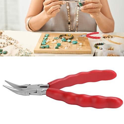 Alicates de punta fina Alicates de nailon Mini joyería de acero inoxidable Abrazadera para gafas Fabricación de bricolaje Herramientas de reparación Adopta Material de acero inoxidable(F)