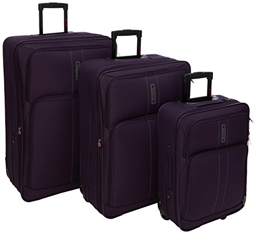 5 Cities - Maleta Unisex, Morado (Morado) - CITIES602 Plum 3 PCS 21/26/29
