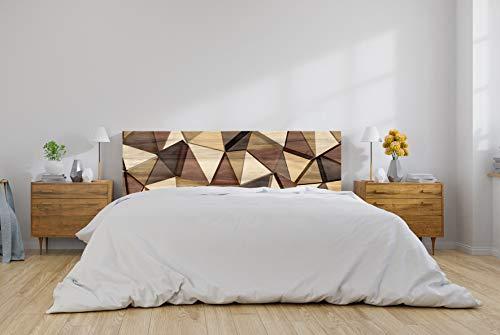Oedim Cabecero Cama PVC Formas Geométricas Imitación Madera 200x60cm| Disponible en Varias Medidas | Cabecero Ligero, Elegante, Resistente y Económico