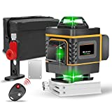 16 Lines 4D Laser Level, Self-Leveling 360 Horizontal and Vertical Green Beam Laser