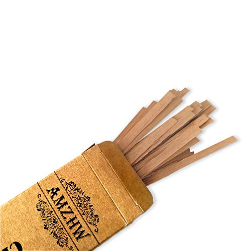 AMZHW Cedar Wood Cigar Lighter 50 Pack Spanish Cedar Matches Spills Match Lighting Strips - 22cm(8.6in)Pipe Smoking Accessories for Men