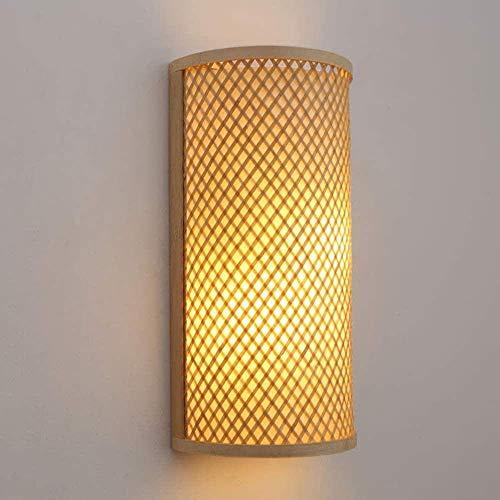 GJY Nórdico Minimalista Minimalista Lámpara de Cama Escalera Lámpara de Pared Material de Bambú Lámpara de Pared Lámparas de Iluminación 10-15 Metros Cuadrados Dormitorio Sala de Estar