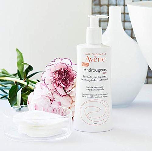 Eau Thermale Avene Antirougeurs CLEAN Refreshing Cleansing Lotion, No Rinse Soothing Cleanser for Redness Prone Sensitive Skin, 13.5 oz.