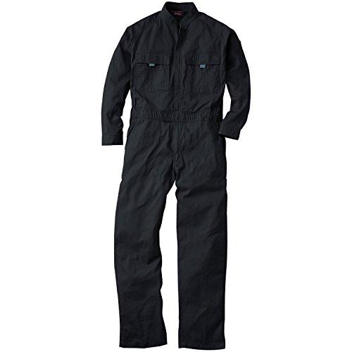 つなぎ 9000 オーバーオール 続き服 長袖 21カラー (LL, ブラック)