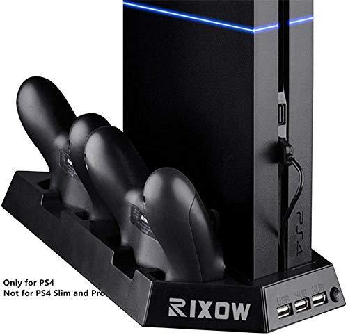 Rixow Refrigeración PS4 Dos Ventiladores Playstation