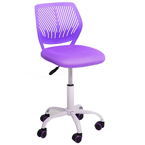 GreenForest Furniture Mid Back Adjustable Home Office Children Desk Chair, Purple