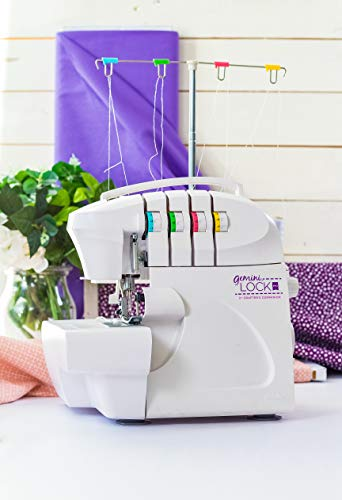 Gemini Lock Pro Overlocking Machine for Sewing & Crafting Projects, White, One Size