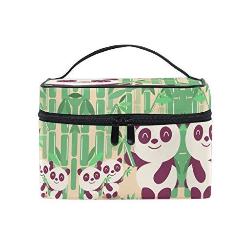 Bambou Panda Mignon Trousse Sac de Maquillage Toilette Cas Voyage Sac Organisateur Cosmétique Boîtes pour Les Femmes Filles