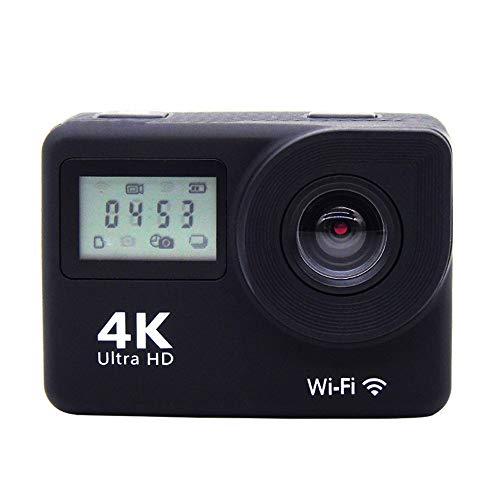 L.J.JZDY - Cámara deportiva de doble pantalla 4K DV720P para buceo al aire libre, cámara deportiva HD impermeable con control remoto WiFi