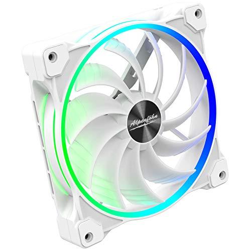 Alpenföhn - Wing Boost ARGB mit 140mm mit 1 PWM Lüftern Gehäusekühler, CPU Kühler aben einen Maximalen 1500RPM Lüfter Kompatiblen Kühler Innenraum PC Gehäuse.