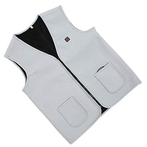 Tomanbery Escudo Sof práctico para el Uso Profesional para Healthy Calefacción eléctrica Chaleco Conventient climatizada(L)