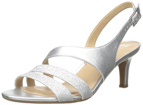 Naturalizer Women's Taimi Dress Sandal, Silver Glitter, 9